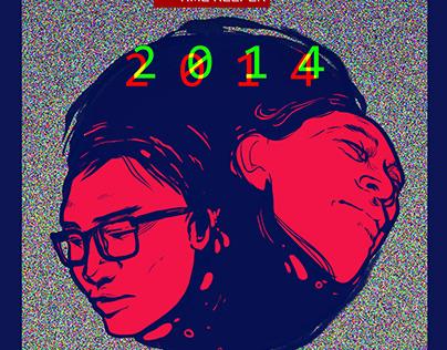 """""""2014"""" album cover design"""