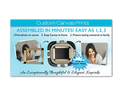 Custom Canvas Website Banner Ad