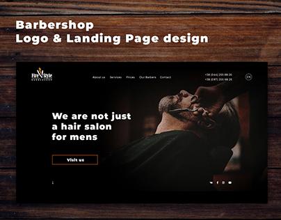 Barbershop Logo & Landing Page design