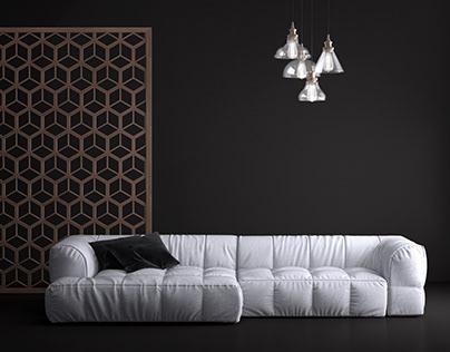Arflex - Strips Sofa Set
