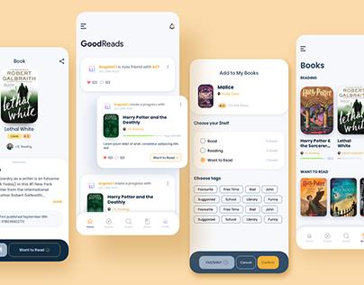 GoodReads, Book Tracker App - Redesign Concept