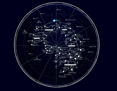"""Infografía homenaje a Spinetta """"Constelación Musical"""""""