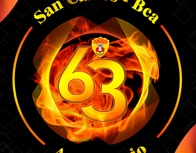 Póster 63 Aniversario San Carlos