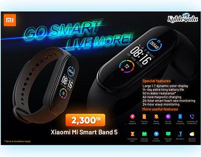 Xiaomi Mi Band 5 Smart Fitness Tracker Banner