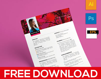 Curriculum Template (Free download)