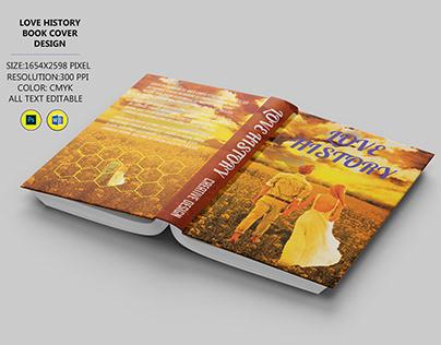 love history book cover design