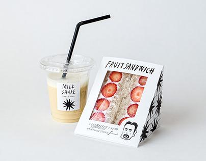 Sandwich and milkshake package