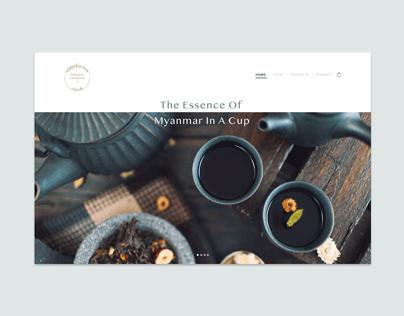 Coffee & tea webdesign