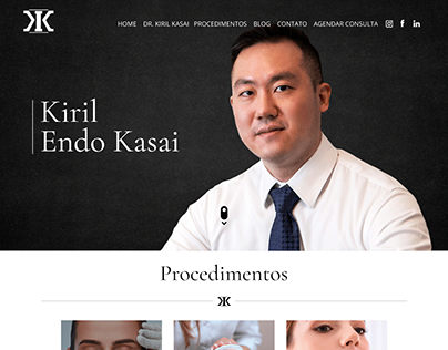 Site Clínica Dr. Kiril Kasai