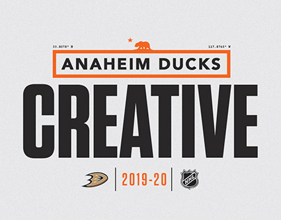 Anaheim Ducks 2019-20 Season Creative