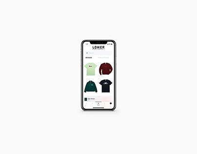Conceptual UI/UX for Lower East Coast Mobile App