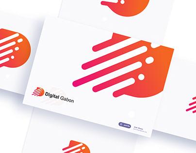 Digital Gabon Letter D Modern Logo Design, Simple logo