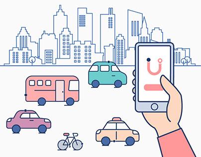 Illustration for a transportation service company