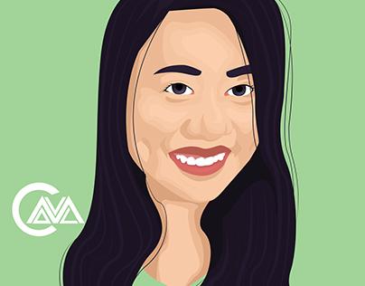 Ericka Vector Portrait