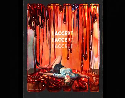 """I Accept"" - Poster design 2019"