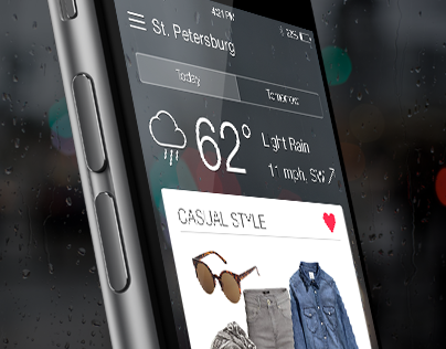 Weather & Fashion — concept of IOS App