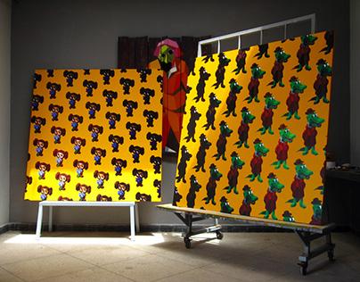 Pop art pattern paintings