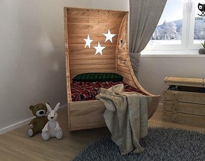 Scandinavian kid/children room interior