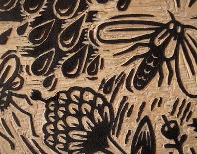 Bug Woodcut