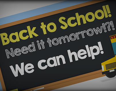 Back To School - Office Supplies Email Design
