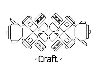 Craft bar&grill Разработка логотипа и фирменного стиля