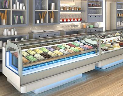 Icecream shop - 3D Visualization