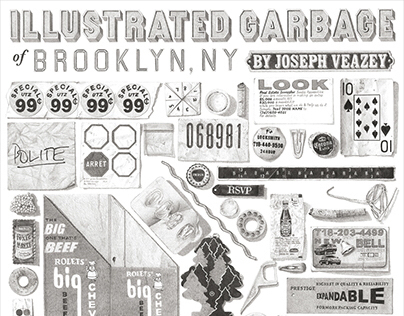 Illustrated Garbage of Brooklyn Poster