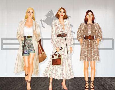 ETRO - Womenswear s/s 21 range development