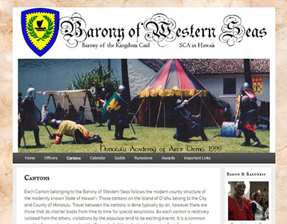 Barony of Western Seas Website | 2016-2018