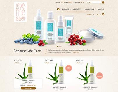 Love me green - eCommerce