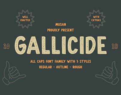 Gallicide With Extras - Free Font