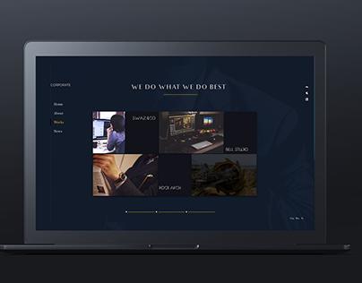 GOLDEN ASSETS Corporate website design