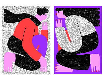LOVERS ♥ poster illustrations
