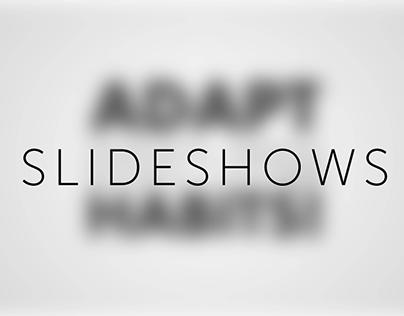 Slideshows / Powerpoint designs