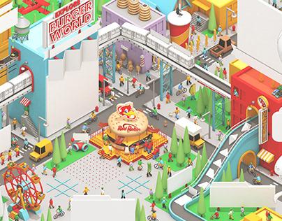 "Red Robin ""Burger World"" Kids Menu"