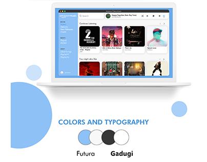 Amazon Music Web Player - Redesigned