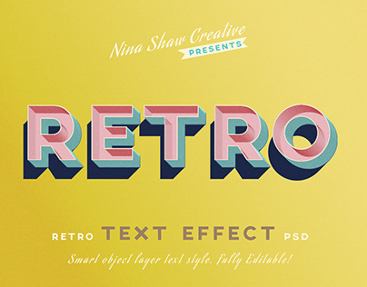 Retro/Vintage Text Effects