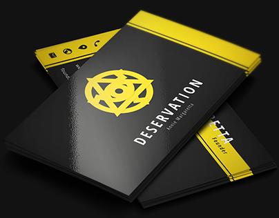 Deservation - Dark Bussiness Card