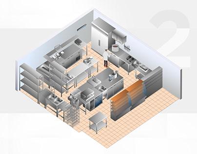 Кухня в векторе для сайта mosposuda.ru