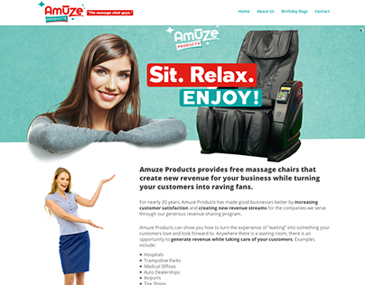 Amuze products website design