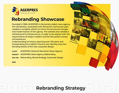Agerpres - Rebranding Showcase