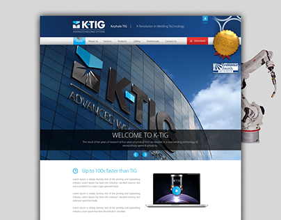 K-TIG Website Design