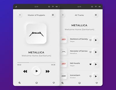 Music Player Applications \ Neumorphism