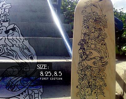 Tabla para Skatezofrenia Skateboarding