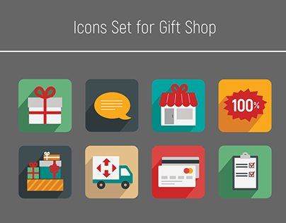 Icons Set for Gift Shop