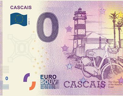 NOTA EURO SOUVENIR CASCAIS