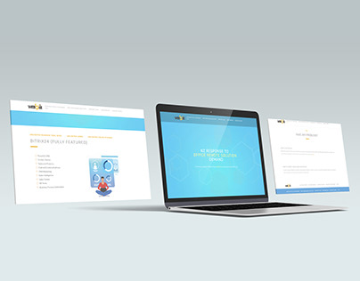 Website for booking to presentation Bitrix system
