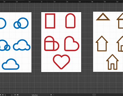 Icon Set - Cloud, Heart and Home