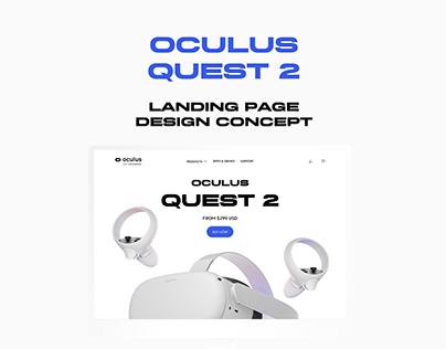 Oculus Quest 2 - Landing Page Concept