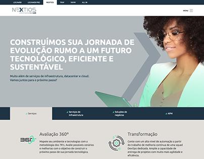 Designer do site Nextios